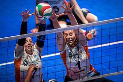 16-07-2018 NED: World Championship sitting volleyball women, Arnhem<br /> Netherlands - Rwanda 3-0 / Jacqueline Koppers #7 of Netherlands, Elvira Stinissen #1 of Netherlands
