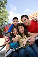 High School Students Taking a Self Portrait