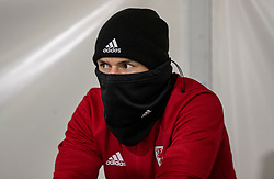 CARDIFF, WALES - Monday, November 18, 2019: Wales' Aaron Ramsey during a training session at the Vale Resort ahead of the final UEFA Euro 2020 Qualifying Group E match against Hungary. (Pic by David Rawcliffe/Propaganda)