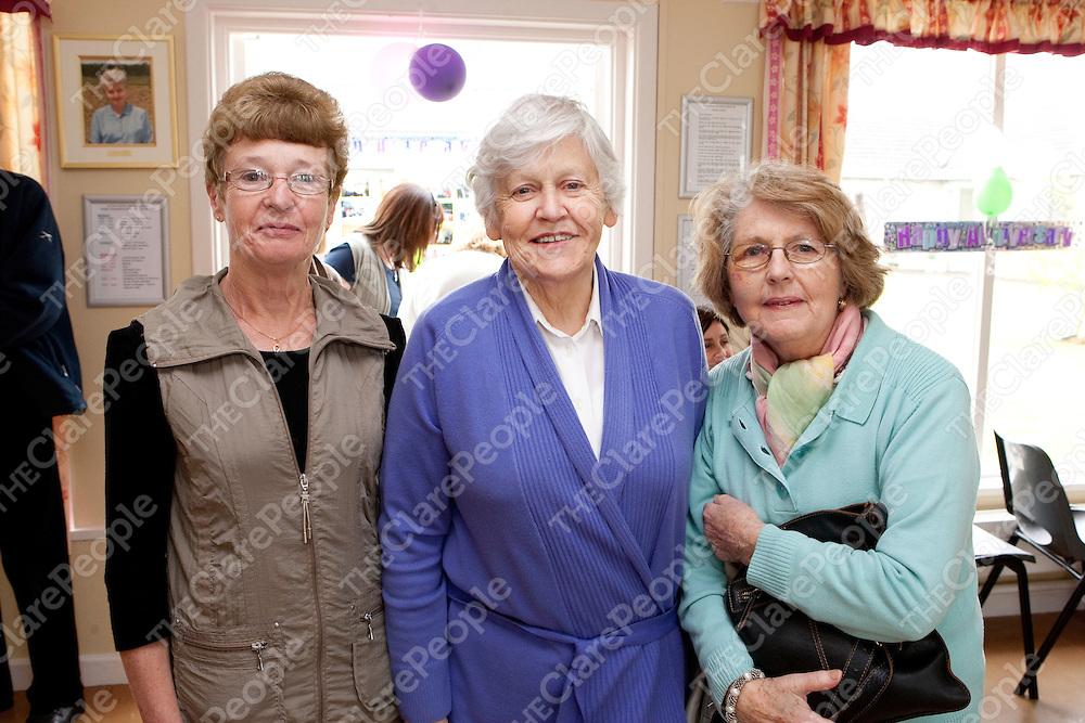 Pictured at Regina House in Kilrush Co Clare 40th Anniversary celebrations were:<br /> Nancy Finucane, Eileen Carey &amp; Marie Carmody.<br /> Pictured Credit Brian Gavin Press 22