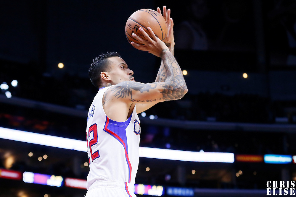 03 December 2014: Los Angeles Clippers forward Matt Barnes (22) takes a jump shot during the Los Angeles Clippers 114-86 victory over the Orlando Magic, at the Staples Center, Los Angeles, California, USA.