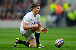 England Fly-Half (#10) Owen Farrell (Saracens) prepares to kick a penalty during the first half of the match - Photo mandatory by-line: Rogan Thomson/JMP - Tel: Mobile: 07966 386802 02/02/2013 - SPORT - RUGBY UNION - Twickenham Stadium - London. England v Scotland - 2013 RBS Six Nations Championship. The winner of this fixture is awarded the Calcutta Cup.
