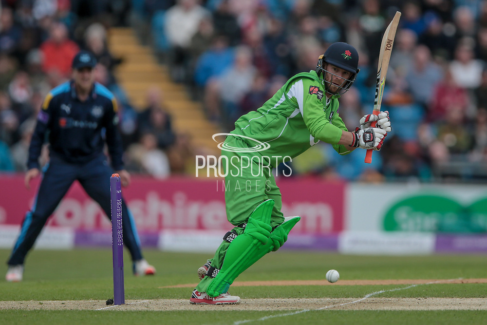 L Procter (Lancashire Lightning) during the Royal London 1 Day Cup match between Yorkshire County Cricket Club and Lancashire County Cricket Club at Headingley Stadium, Headingley, United Kingdom on 1 May 2017. Photo by Mark P Doherty.