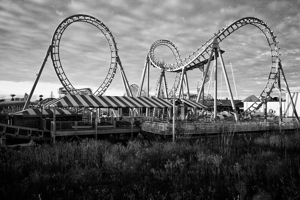 The Zydeco Scream ride at Six Flags in East New Orleans - five years later after Hurricane Katrina.
