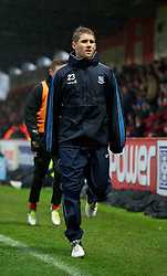 STEVENAGE, ENGLAND - Saturday, November 24, 2012: Tranmere Rovers' substitute Donevorn Daniels warms up during the Football League One match against Stevenage at Broadhall Way. (Pic by David Rawcliffe/Propaganda)