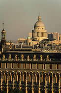 France. Paris. elevated view. Paris,The Pantheon, the louvre museum ,  view from  the hotel Meurice  Paris  France