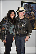 SERENA REES; PAUL SIMONON, Private view, Paul Simonon- Wot no Bike, ICA Nash and Brandon Rooms, London. 20 January 2015