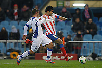 12.12.2012 SPAIN - Copa del Rey 12/13 Matchday 8th  match played between Atletico de Madrid vs Getafe C.F. (3-0) at Vicente Calderon stadium. The picture show  Diego da Silva Costa (Brazilian midfielder of At. Madrid)