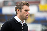 Macclesfield Town manager Daryl McMahon before the EFL Sky Bet League 2 match between Macclesfield Town and Mansfield Town at Moss Rose, Macclesfield, United Kingdom on 16 November 2019.
