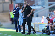 Forest Green Rovers manager, Mark Cooper during the EFL Sky Bet League 2 match between Bradford City and Forest Green Rovers at the Utilita Energy Stadium, Bradford, England on 24 August 2019.