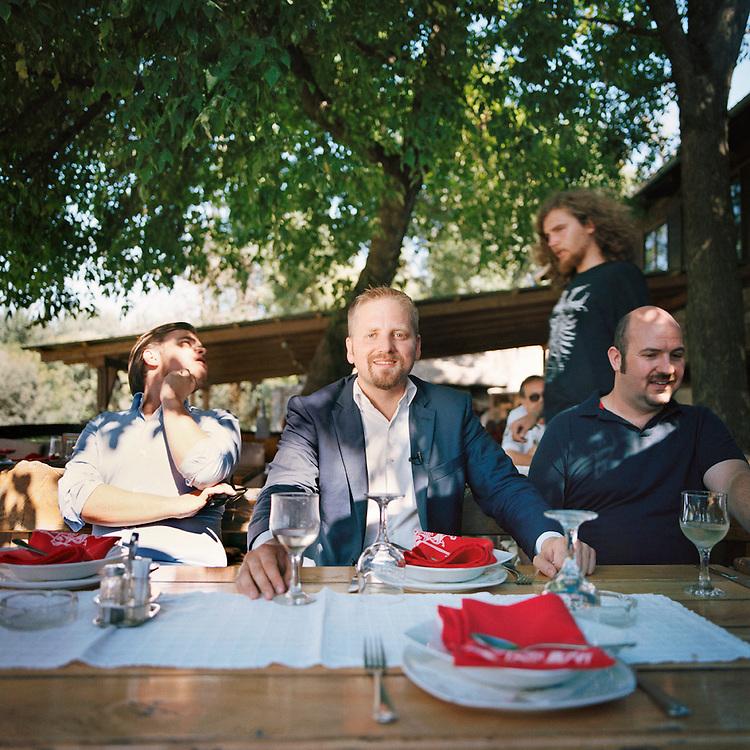 Liberland President Vit Jedlicka in a restaurant by the Danube near Bezdan, Serbia