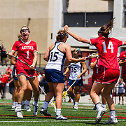 29 April 2018: The San Diego State women's lacrosse team took on UC Davis for the MPSF Championship at the Aztec Lacrosse field and won 11-10 to claim their first MPSF conference title.<br /> More game action at sdsuaztecphotos.com