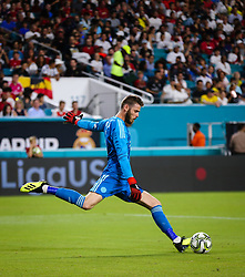 July 31, 2018 - Miami Gardens, Florida, USA - Manchester United F.C. goalkeeper David De Gea (1) in action during an International Champions Cup match between Real Madrid C.F. and Manchester United F.C. at the Hard Rock Stadium in Miami Gardens, Florida. Manchester United F.C. won the game 2-1. (Credit Image: © Mario Houben via ZUMA Wire)