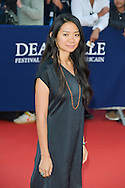 Chloe Zhao attends the red carpet during the 41st Deauville American Film Festival on September 6, 2015 in Deauville, France