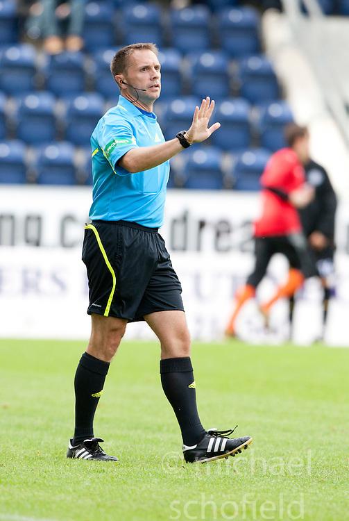 Referee Crawford Allan..Raith Rovers 1 v 0 Falkirk, 6th August 2011..©Pic : Michael Schofield.