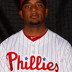 February 22, 2011; Clearwater, FL, USA; Philadelphia Phillies left fielder Ben Francisco (10) poses during photo day at Bright House Networks Field. Mandatory Credit: Derick E. Hingle