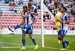 Wigan Athletic's Nick Powell celebrates after scoring his sides third goal - Mandatory by-line: Matt McNulty/JMP - 13/08/2017 - FOOTBALL - DW Stadium - Wigan, England - Wigan Athletic v Bury - Sky Bet League One