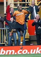 Photo: Steve Bond/Richard Lane Photography. Wolverhampton Wanderers v Aston Villa. Barclays Premiership 2009/10. 24/10/2009. Sylvan Ebanks-Blake celebrates