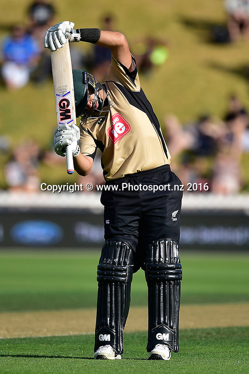 Ross Taylor of the North Island stretches during the North Island vs South Island cricket match at the Basin Reserve in Wellington on Sunday the 28th of February 2016. Copyright Photo by Marty Melville / www.Photosport.nz