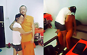 "Thai online commenters are not pleased after seeing photos of a monk in his robes giving inappropriate attention to a female.  <br /> <br /> The photos have been circulating on LINE app and have now made their way to social networking sites and even national news. The identity of the down and dirty monk and his ""friend"" are unknown but that hasn't stopped people from sharing and speculating.<br /> Even if they are only ordained temporarily, it is very inappropriate for monks to touch females, much less in a lecherous or sexual way.<br /> The series of photos in question, only a few of which are included here, show a man in saffron cuddling, hugging and kissing an unidentified female.<br /> It's so scandalous for a monk to touch a woman that there was recently an uproar over a newly-ordained monk holding his infant daughter.<br /> Online commenters are calling for action to be taken against the unknown holy man, reported Daily News.<br /> So far, no one even knows when or where the pictures were taken, though, judging from the background, most people speculate that they are on temple grounds, in the rooms usually reserved as housing for monks.<br /> ©Exclusivepix Media"