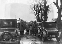 H796<br /> <br /> Bremen Flight 1928.<br /> <br /> No details at present as to what is happening in this picture: a group of men standing beside cars.<br /> <br /> (The first east-west non-stop transatlantic flight, in April 1928, from Baldonnel, Ireland to Greenly Island, Canada, in a Junkers W 33 monoplane, the &quot;Bremen&quot;. Crew of the Bremen: Pilot Capt. Herman K&ouml;hl, Navigator Col. Major James Fitzmaurice and Baron Ehrenfried G&uuml;nther Freiherr von H&uuml;nefeld, Owner of the plane).<br /> <br /> (Part of the Independent Newspapers Ireland/NLI Collection)
