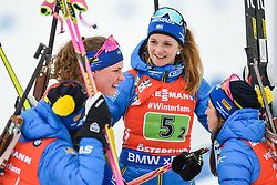 March 16, 2019 - –Stersund, Sweden - 190316 Hanna Öberg and Mona Brorsson of Sweden celebrates after the Women's 4x6 km Relay during the IBU World Championships Biathlon on March 16, 2019 in Östersund..Photo: Petter Arvidson / BILDBYRÃ…N / kod PA / 92268 (Credit Image: © Petter Arvidson/Bildbyran via ZUMA Press)