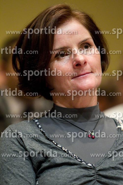 Milena Cernilogar Radez, president of KZS during the Slovenia's Cyclist of the year award ceremony by Slovenian Cycling Federation KZS, on December 11, 2010 in Hotel Mons, Ljubljana, Slovenia. (Photo By Vid Ponikvar / Sportida.com)