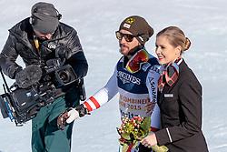 13.02.2017, St. Moritz, SUI, FIS Weltmeisterschaften Ski Alpin, St. Moritz 2017, alpine Kombination, Herren, Flower Zeremonie, im Bild Marcel Hirscher (AUT, Herren Alpine Kombination Silbermedaille) // men's Alpine Combined Silver medalist Marcel Hirscher of Austria during the Flowers ceremony for the men's Alpine combination of the FIS Ski World Championships 2017. St. Moritz, Switzerland on 2017/02/13. EXPA Pictures © 2017, PhotoCredit: EXPA/ Johann Groder
