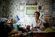 Friday March 7th 2008.  .Boulogne Billancourt (Hauts de Seine), France.Homeopath Patricia Gonet-Lapous in her office..Rue de la Saussiere.