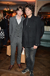 Left to right, brothers SASCHA BAILEY and FENTON BAILEY at the Fortnum & Mason and Quintessentially Foundation Fayre of St.James's in association with The Crown Estate held at St.James's Church, Piccadilly followed but a reception at Fortnum & Mason, Piccadilly,London on 5th December 2013.