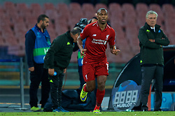 NAPLES, ITALY - Wednesday, October 3, 2018: Liverpool's substitute Daniel Sturridge during the UEFA Champions League Group C match between S.S.C. Napoli and Liverpool FC at Stadio San Paolo. (Pic by David Rawcliffe/Propaganda)