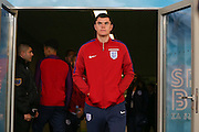 England Defender Michael Keane during a general stadium walk around before the Slovenia vs England FIFA World Cup Group F Qualifier match at Stadion Stozce, Ljubljana, Slovenia on 10 October 2016. Photo by Phil Duncan.