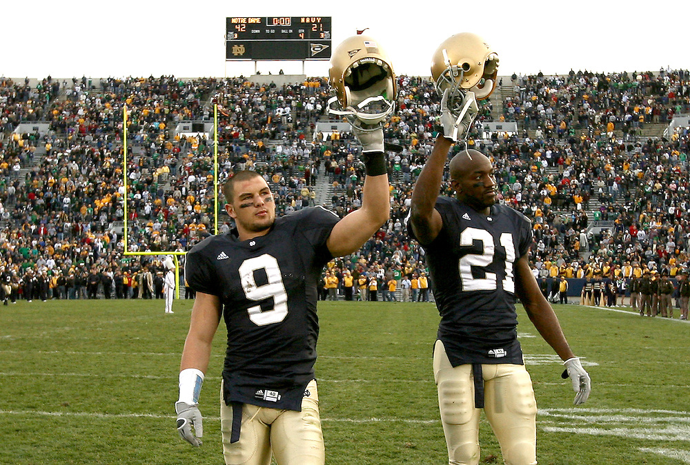 Nov. 12, 2005; South Bend, IN, USA; Notre Dame Fighting Irish Navy Midshipmen at Notre Dame Stadium. Notre Dame won 42-21. Mandatory Credit: Photo By Matt Cashore