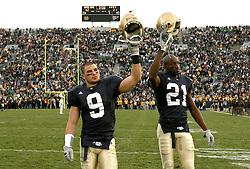 Nov. 12, 2005; South Bend, IN, USA; Notre Dame Fighting Irish Navy Midshipmen at Notre Dame Stadium. Notre Dame won 42-21. Mandatory Credit: Photo By Matt Cashore