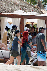 EXCLUSIVE: Jason Momoa and Amber Heard film Aquaman on the Gold Coast in Australia, also pictured is Ambers rumoured new love interest, Kelly McNaught who is Jason Mamoa's stunt double, also shots of the camels who injured a member on set which was reported taken to hospital straight from beach set after the camels were fightened by a wave coming in to close. 20 Oct 2017 Pictured: Jason Mamoma Amber Heard and also pictured - rumoured Amber Heards new love interest, Kelly McNaught who is Jason Mamoma's Stand In. Photo credit: Andrew Carlile / MEGA TheMegaAgency.com +1 888 505 6342
