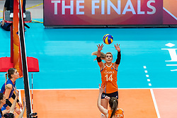 19-10-2018 JPN: Semi Final World Championship Volleyball Women day 20, Yokohama<br /> Serbia - Netherlands / Laura Dijkema #14 of Netherlands