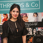 Shay Hoshiar blogger at Instagram @aspoonfulloffashion  attends the Threads & Co Beauty launches permanent retail concept store everything from coffee to beauty to retail therapy on 24th May 2017. by See Li