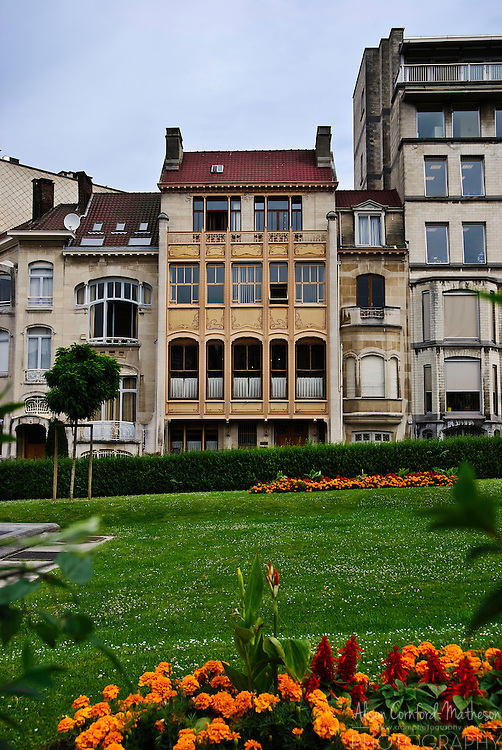 The Hotel van Eetvelde by Art Nouveau architect Victor Horta in Brussels, Belgium