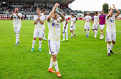 Luka Zahović of Maribor and other players of Maribor celebrate after winning 5-1 during football match between NK Triglav Kranj and NK Maribor in Round #7 of Prva liga Telekom Slovenije 2018/19, on September 2, 2018 in Kranj, Slovenia. Photo by Vid Ponikvar / Sportida