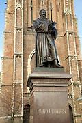 Statue Hugo Grotius, Nieuwe Kerk, Delft, Netherlands