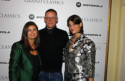 Left to right, VANESSA WINGATE, designer GILES DEACON and KATRINA PAVLOS at the Grand Classics screening of Manhattan hosted by Giles Deacon at the Electric Cinema, Portobello Road, London W11 on 13th November 2006.<br />