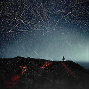 Man walking on a road at night with a sky full of stars<br /> Society6 products: http://bit.ly/2qNmd6g<br /> <br /> Curioos Prints: https://www.curioos.com/product/print/connections-4