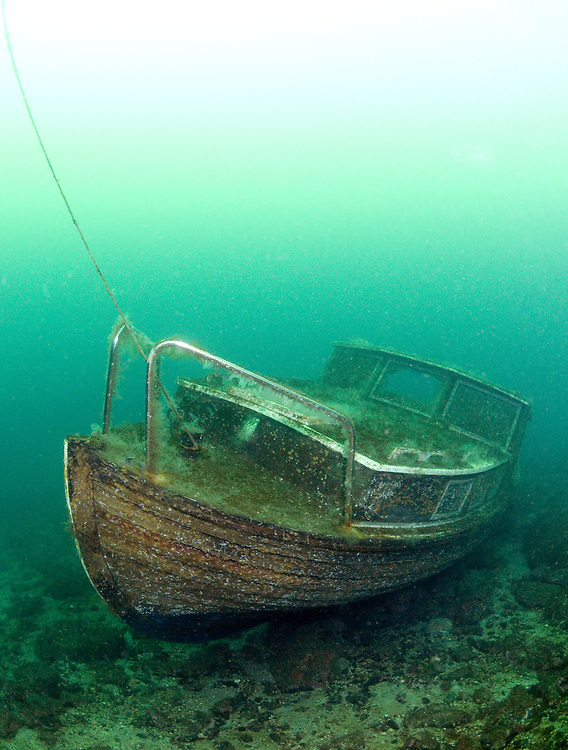 Wreck dumped in to the sea. Location : Stavanger, Norway