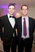 John Murphy GMIT and  John Farraher Tuam at the Ability West Best Buddy Ball and award night at the Menlo Park Hotel Galway. Photo:Andrew Downes.