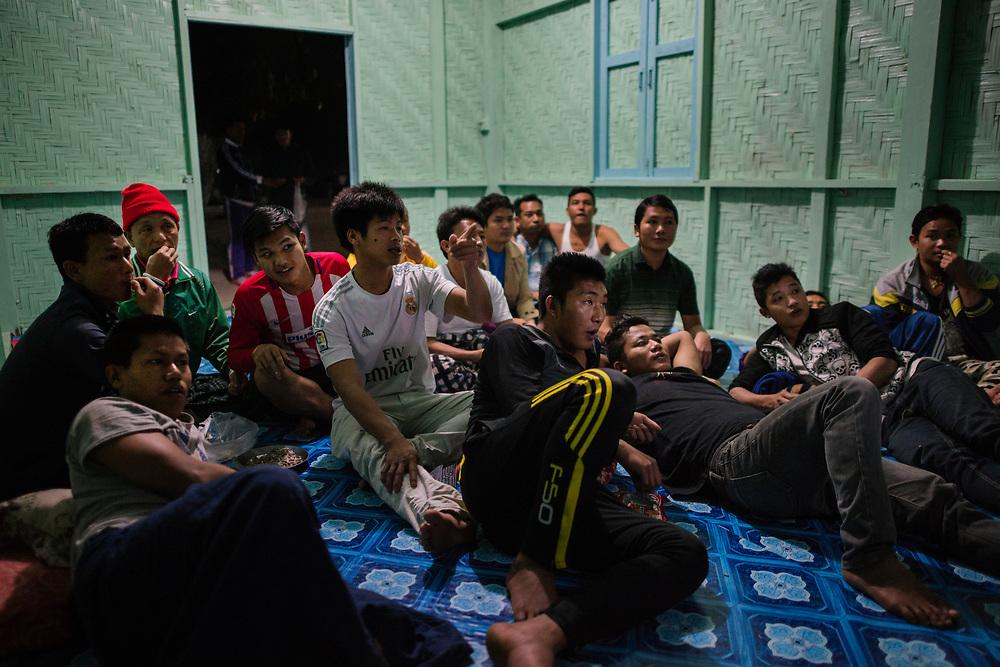 20170226 Myitkyina<br /> Movie night at a drug rehabilitation center in Myitkyina, Kachin State, Myanmar.<br /> Photo: Vilhelm Stokstad / Kontinent