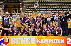 21-02-2016 NED: Bekerfinale Eurosped TVT - Set Up 65, Almere<br /> Eurosped pakt de beker door Set Up in de finale met 3-1 te verslaan / Teamfoto