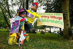 Tour de France themed decoration on the Stage 1 route in Burley in Wharfedale - Photo mandatory by-line: Rogan Thomson/JMP - 07966 386802 - 04/07/2014 - SPORT - CYCLING - Yorkshire - Le Tour de France Grand Depart Previews.
