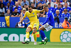 May 12, 2019 - Leicester, England, United Kingdom - Davide Zappacosta (21) of Chelsea crosses the ball beating Leicester City midfielder James Maddison (10) during the Premier League match between Leicester City and Chelsea at the King Power Stadium, Leicester on Sunday 12th May 2019. (Credit Image: © Mi News/NurPhoto via ZUMA Press)