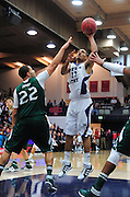 November 28, 2011; Moraga, CA, USA; Weber State Wildcats forward Frank Otis (13) shoots over Saint Mary's Gaels forward Rob Jones (22) during the first half of the Shamrock Office Solutions Classic championship game at McKeon Pavilion.