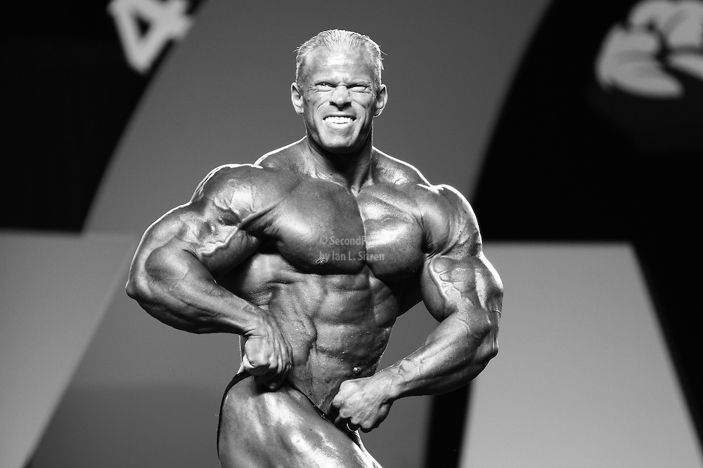 Dennis Wolf competing at the 2010 Mr. Olympia finals in Las Vegas.
